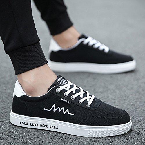 XUEQIN Scarpe da uomo nere di tendenza Scarpe scarpe casuali scarpe di tela di canapa Autunno ( Colore : 3 , dimensioni : EU41/UK7.5-8/CN42 ) 4