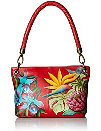 701d1c3605 ANUSCHKA Hand Painted Leather Medium Shoulder Bag - Island Escape 634 Ise