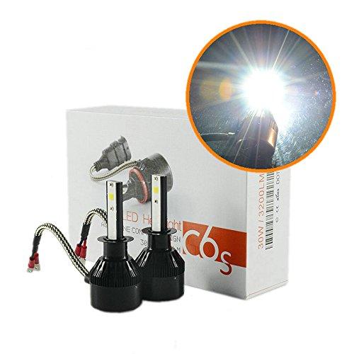 Heinmo New All-in-One auto fari H1lampadina LED auto anteriore lampadine bianco 6500K auto fari nebbia light-2Yr Warranty