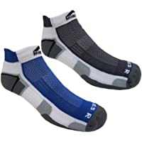 More Mile Mens Miami Cushioned Running Socks (2 pair pack)