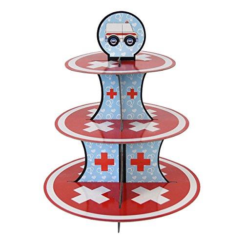 Doctor Cupcake-Ständer & Pick Kit, Nurse Party Supplies, Doctor Dekorationen, Geburtstage, Ambulance, Medical Thema, Graduierung, Kuchen Dekorationen, 3Etagen Karton