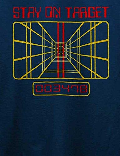 Stay On Target T-Shirt Navy Blau