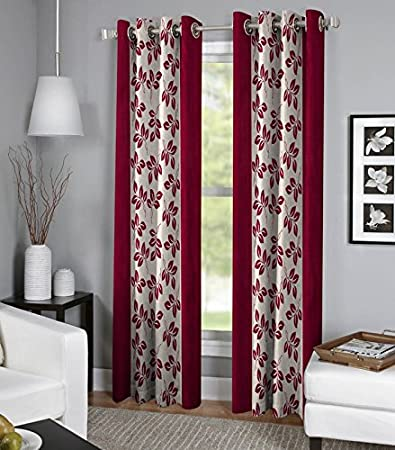 Buy Exporthub Maroon Color Fancy Designer 2 Piece Eyelet Long Door Curtains- 4 x 9 Feet (EHSPR551_94) Online at Low Prices in India - Amazon.in & Buy Exporthub Maroon Color Fancy Designer 2 Piece Eyelet Long Door ... pezcame.com