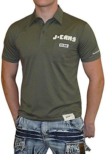 """S&LU angesagtes Herren-Polo-Shirt """"T7-672"""" mit tollen Details Gr.:S-XXL Oliv"""