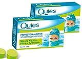 QUIES - Protection Auditive silicone special natation - Lot de 2 boite de 3 paires