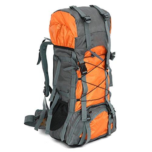 Escursionismo Zaino Multifunzionale Arrampicata Camping Rucksack Impermeabile Borsa Sportiva Outdoor Trekking,Black Yellow