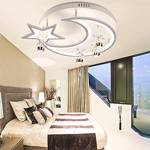 LoveScc Personalisieren Sie Ihre Startseite Das kreative Deckenleuchte jungen Mädchen Zimmer und Beleuchtung, minimalistischen Ledmodern Leuchten Lampen & Leuchten Sterne weißes Licht 54 Watt Durchmesser 52 cm