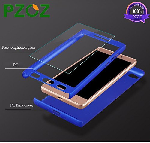 wholesale dealer 61c22 19870 Pzoz For Redmi Note 4 360 Degree Ipaky-Full Body Protection (Front+ Back +  Temper Glass) Back Case Cover,Black