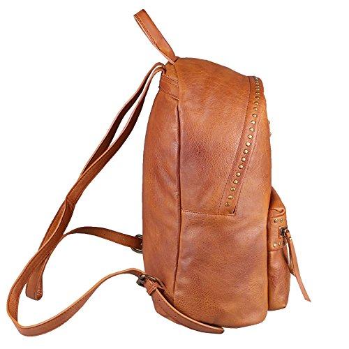 96ac1258618a8 OBC DAMEN NIETEN RUCKSACK Tasche Cityrucksack Schultertasche Handtasche  Shopper Daypack Backpack Kunst-Lederrucksack (Grün ...