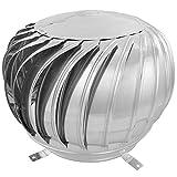 PrimeMatik - Schornsteinabdeckung rotierend Kaminhaube schützt vor Wind für 350 mm Rohre