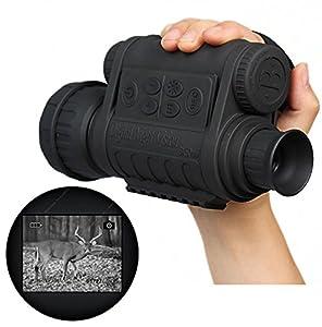 Boblov Bestguarder WG-50 Télescope Monoculaire Vision Nocturne Infrarouge HD 720P IR Écran LCD en Couleur 1,5 pouce Écran 6x50 Zoom Enregistrement avec un porte-clés d'opera Pekin (monoculaire)