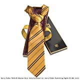 Noble Collection Hufflepuff 100% Silk Necktie in Madam Malkin's Box