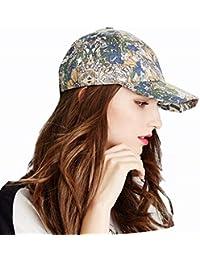 Gorras de béisbol Sombreros y Gorras Sombrero De Verano Visera para Mujer  Floral Protector Solar Versión 184a342deac