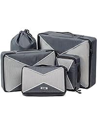 Cobiz Borsa Organizer Viaggio Set di 4, Organizzatori di viaggio,Cubi da Imballaggio con Borsa per Lavanderia/Scarpe e 2 Borse a Compressione Salvaspazio