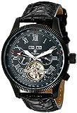 Burgmeister Armbanduhr für Herren mit Analog Anzeige, Automatik-Uhr und Lederarmband - Wasserdichte Herrenuhr mit zeitlosem, schickem Design - klassische Uhr für Männer - BM330-622 Malabo
