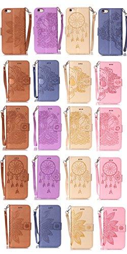 Coque Cuir iPhone 5 / 5s / SE, Fermeture Aimantée de Motif Imprimé Étui Housse en Cuir Ultra-mince Avec La Fonction Stand pour Apple iPhone 5 / 5s / SE Étui +Bouchons de poussière (12YY) 15