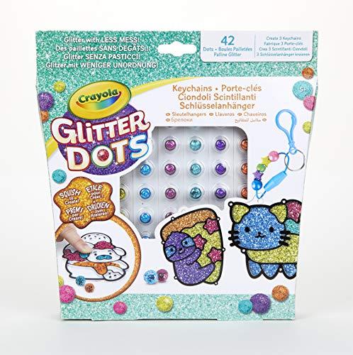 CRAYOLA - Glitter Dots Ciondoli Scintillanti, Set per Giocare e Creare con Il Glitter Modellabile, 04-0800