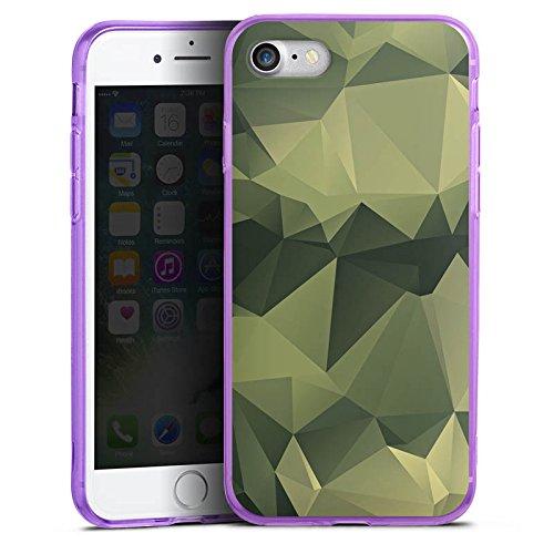 Apple iPhone 8 Silikon Hülle Case Schutzhülle Camouflage Muster Tarnfarben Silikon Colour Case lila