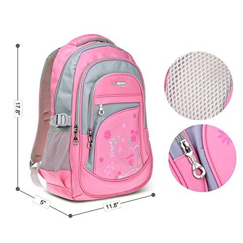 Imagen de vbiger niños  bolsa viaje  escuela con correas ajustables rosado  alternativa