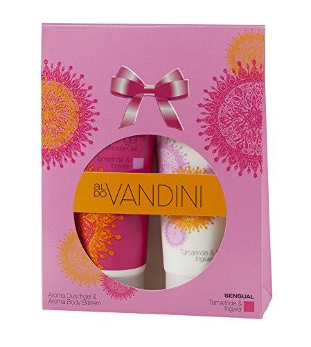 aldoVANDINI SENSUAL Geschenkset, Lotion & Duschgel mit sinnlichem Duft, für Frauen, vegan - 1 er Pack (1 x 1 Set)