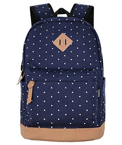 Imagen de samgoo  tipo casual lona ligero bolsa  escolares unisex adolescentes mujer viajes deportes (lunar del)