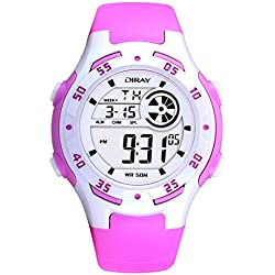 Digital-analog Boys Girls Luminous Sport Digital Watch with Alarm Stopwatch Chronograph - 50m Water Proof