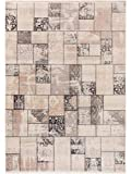 Benuta Teppich Vintage Safira Beige/Grau 160x235 cm - Vintage Teppich im Used-Look