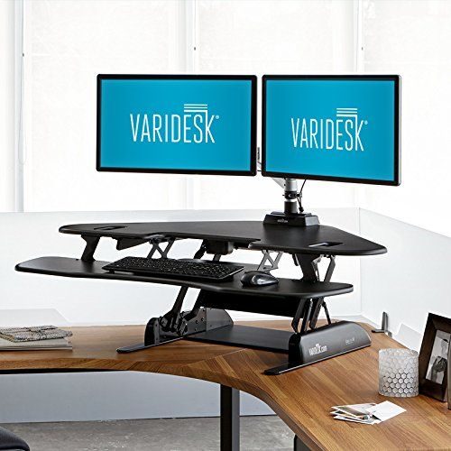 Cheap VARIDESK Height-Adjustable Standing Desk for Cubicles – Cube Corner 48 Special