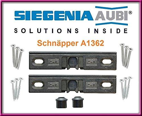 Tür-fenster-handle (SI Siegenia Balkontür Terrassentür Schnäpper A1362 Türschnäpper inkl. Hülse 2 Stk.)