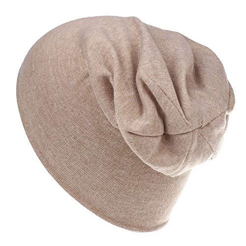 Unisex Baby Mütze Hat Beanie Kinder Hüte Jersy Slouch Jungen Mädchen Kleinkinder Long Mütze Unifarbe Baumwolle Trend (Beige) Slouch Baseball