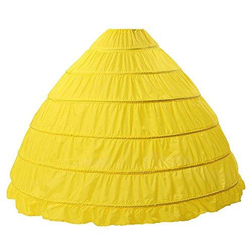 BEAUTELICATE Crinolina Enaguas Mujer Largas para Vestidos de Novia Boda Faldas 6 Aros hasta el Piso(más Colores)