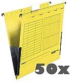 2x 25 FALKEN Hängetaschen UNIREG / gelb / DIN A4 / 230 g/m²