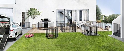 Impag® Treppenschutzgitter 73 – 142 cm für einseitiges Geländer 2 Y-Adapter zum Klemmen ohne Bohren EasyStep + 20 - 6