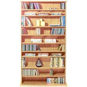 HARROGATE - CD / DVD / Blu-ray Media Storage Shelves - Pine
