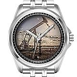 Personalisierte Herrenuhr Mode wasserdicht Uhr Armbanduhr Diamant 887.Oil Well Pump Jack
