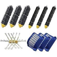 Pulizia Robot Kit di ricambio Parte - Accessori Robot Kingwo pulizia per iRobot Roomba serie 600 di pulizia di vuoto robot con 3X pennelli setole, 3X flessibile Beater pennelli, 3 X6-Armed spazzole laterali, 3 Filtri Xaero Vac