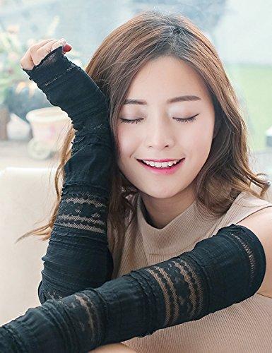 Gants de protection solaire minces en dentelle Gants de soie de glace d'été Gants de protection solaire de conduite ( Couleur : 1 ) 1