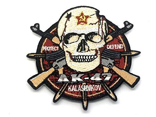 AK-47 Aufnäher mit Kalashnikov- und Totenkopf-Motiv, für Airsoft und Paintball -
