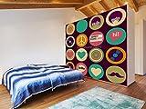 ZUNTO pop art 3d Haken Selbstklebend Bad und Küche Handtuchhalter Kleiderhaken Ohne Bohren 4 Stück