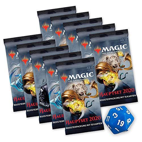 Magic The Gathering - Hauptset M20 - 10x Booster Packung & D-20 Würfel - deutsch