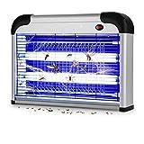 WADEO Lampe Anti Moustique Electrique, Intérieur et Extérieur Tue Mouches 20W UV LED, Piège à Moustique Tueur pour Maison Bureau, Efficace Portée 50-150m²