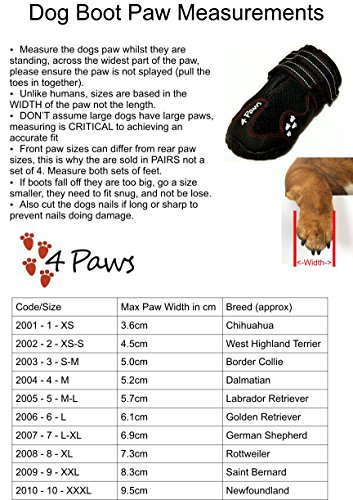 4Paws Dog Boot Active Paw Protectors - (1 x Pair - 2 boots) Reflective and Robust with rubber grip sole and breathable… 8