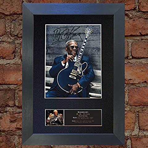 BB KING signed autograph framed photo repro A4 print 656 [BLACK FRAME]