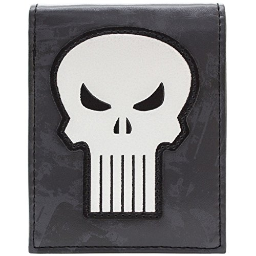 Marvel Punisher Weißer Schädel Symbol Grau Portemonnaie Geldbörse
