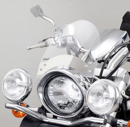 Windschild Custom Puig Roadster für Harley Davidson Dyna Street Bob (FXDB)/ Dyna Super Glide Custom (FXDC) 06-12/Rocker C (FXCWC) 08-11 klar