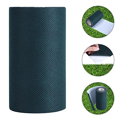 Cinta Adhesiva para Césped Artificial, 5mx15cm Césped Artificial Cinta Verde para Césped Cinta para Césped Autoadhesiva Costura para Aésped