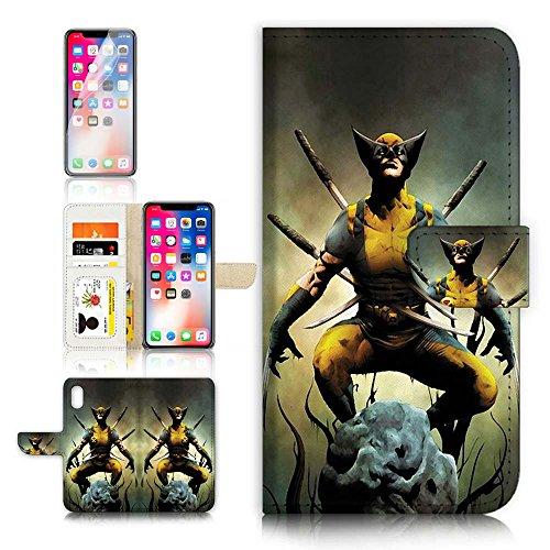 Funda con tapa para iPhone X y protector de pantalla....