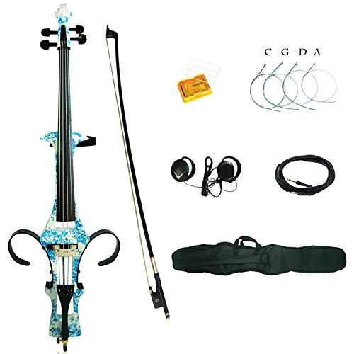 Preisvergleich Produktbild Kinglos 4/4 Farbige Massivholz Elektro / Still Cello Ausrüstung in Voller Größe (DSDT1201)