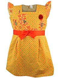 Next Orange Cap Sleeve Cotton Dress with Red Satin Band
