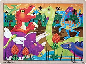 Melissa & Doug Prehistoric Sunset Dinosaurs Jigsaw Puzzle (24 Pieces)